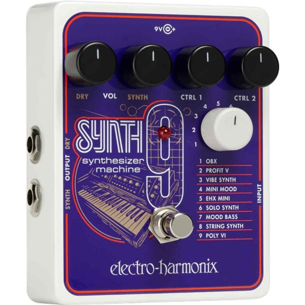 ELECTRO HARMONIX SYNTH9 SYNTHESIZER MACHINE GUITAR PEDAL